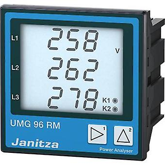 Janitza UMG96RM-E 6-channel network analyzer UMG 96 RM-E, Ethernet, with RCM measurementMeasuring range: L-N: 10 - 300 V