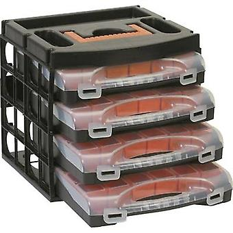 Assortment case set (L x W x H) 322 x 279 x 297 mm Alutec No. of compartments: 16 variable compartments