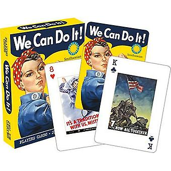 We Can Do It Wartime Playing Cards, 52 + Jokers