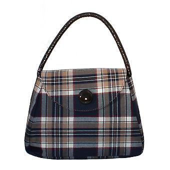 Tartan S Handbag (Stewart Navy)