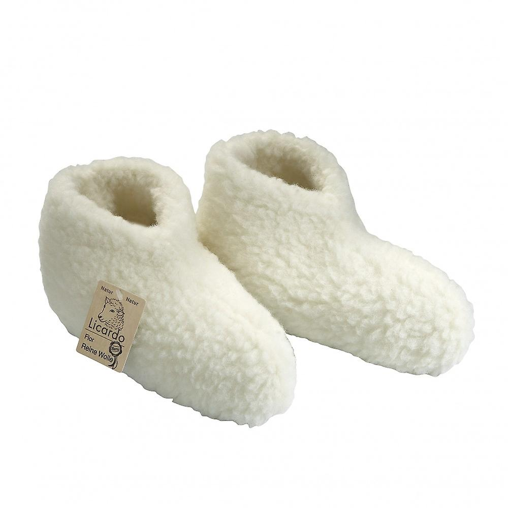 Bed shoes shoes shoes wool ecru 36/37 68a226