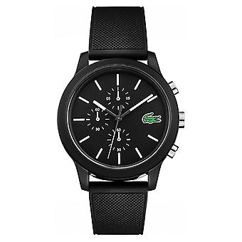 Lacoste 12.12 Black Chronograph Silicone Strap 2010972 Watch