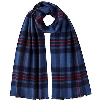 Johnstons of Elgin Fife Extra Fine Tartan Scarf - Blue/Red