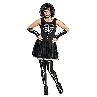 Teen skeletal skeleton skeleton dress Seklettkostüm costume for women