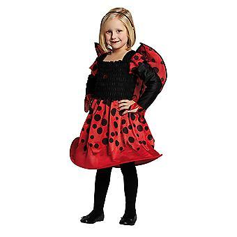 Marienchen Kinderkostüm Kleid Marienkäfer für Mädchen