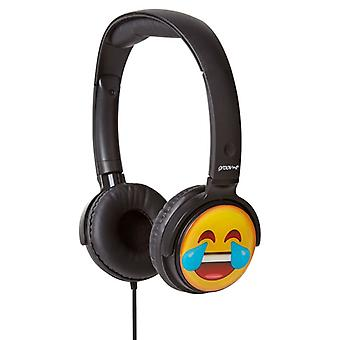 Groov-e GVEMJ12 EarMOJI's Over The Head Stereo Headphone Emoji - Laughing Face