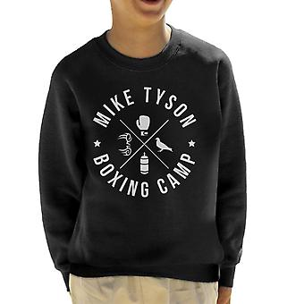 Mike Tyson Boxing Camp White Icons Kinder Sweatshirt
