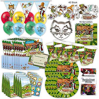 Pettson and Findus original party set XL 113-teilig 8 guests cat birthday party package