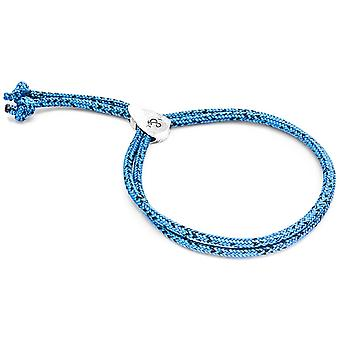 Anchor and Crew Pembroke Silver and Rope Bracelet - Blue Noir