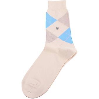 Burlington Queen Socks - Cream/Beige/Blue