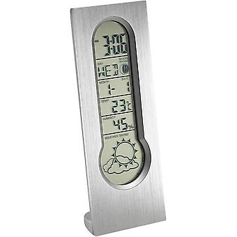 Orton West Wetterstation Digital-Wecker - Silber