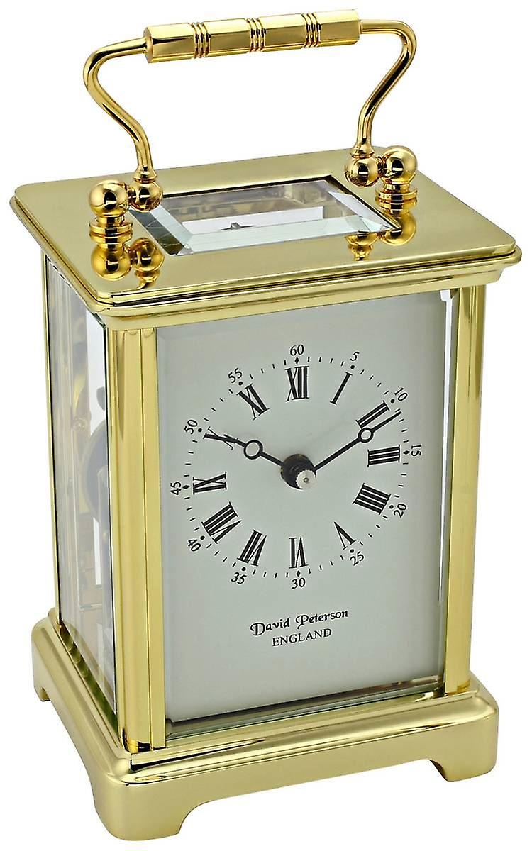 David Peterson Obis 8 Day Mechanical Bell Strike Movement Carriage Clock - or