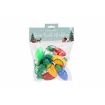 CGB Giftware Christmas Bulb Lights Novelty Necklace