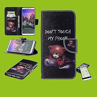 Für Huawei P Smart 2019 / Honor 10 Lite Kunstleder Tasche Book Motiv 30 + H9 Hart Glas Schutz Hülle Case Cover Etui Neu