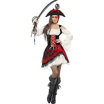 Glamorous Lady Pirate Costume, UK Dress 16-18