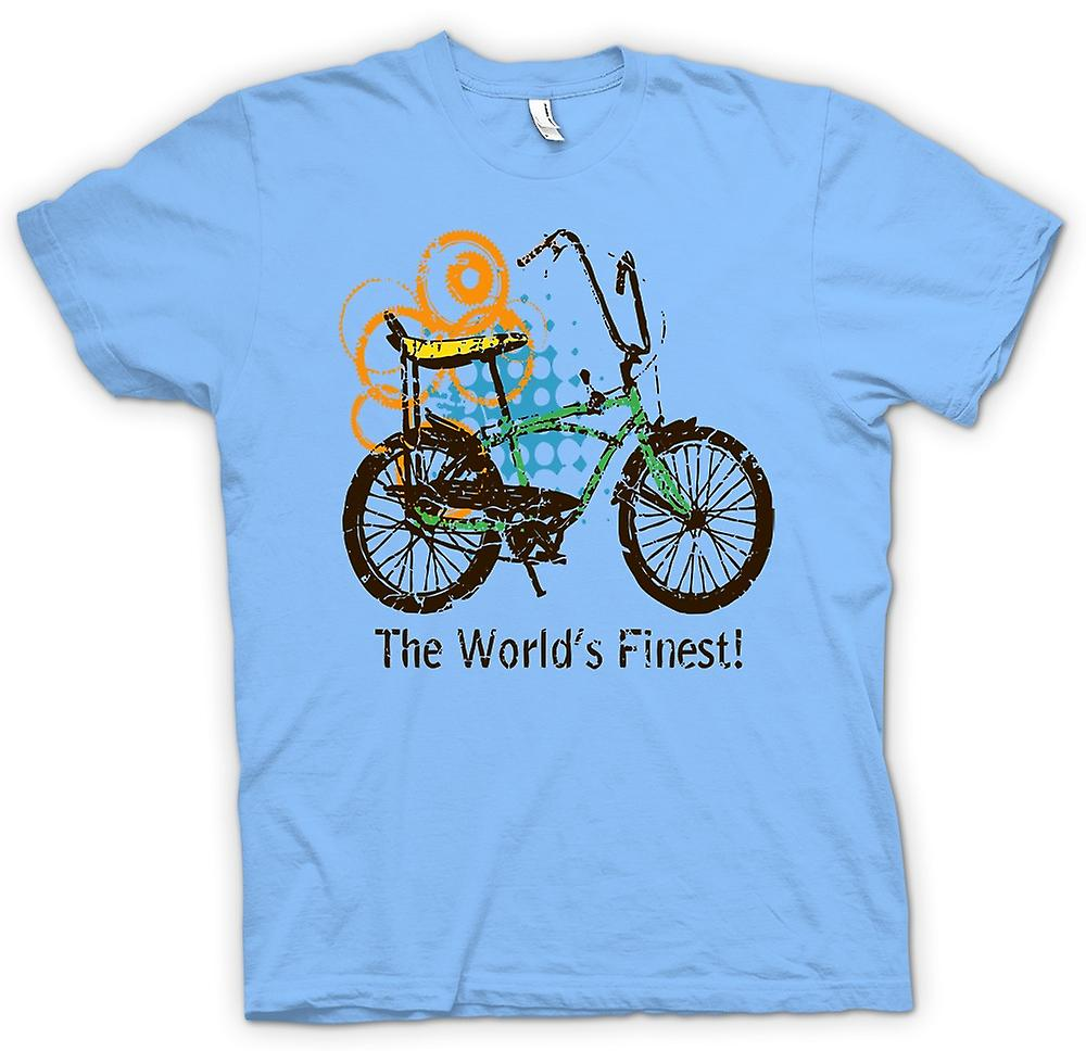 Mens T-shirt - Chopper Bike - World's Finest - Funny Graphic Design
