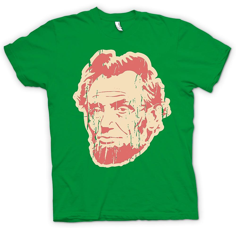 Mens t-skjorte - Abraham Lincoln - Pop Art ansikt