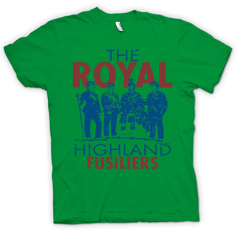 Herr T-shirt - The Royal Highland Fusiliers - brittiska armén