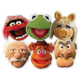 Die Muppets Karte Face Mask Set von 6 (Kermit, Miss Piggy, Tier, Statler, Waldorf und Fozzie Bär)