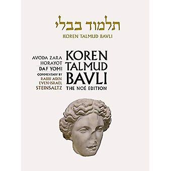 Koren Talmud Bavli Noe Edition: Volume 32: Avoda Zara Horayot, Hebrew/English, B & W Editon