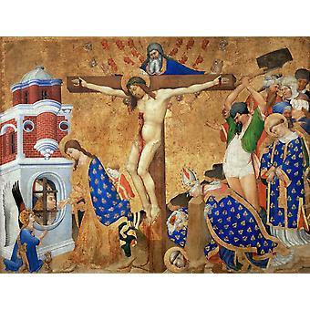 Den siste nattverden og martyrium St., Henri Bellechose, 50x40cm