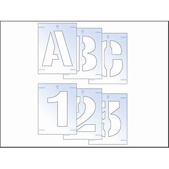 Scan Letter & Number Stencil Kit 25mm