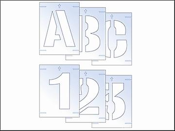 Scansione lettera & numero Stencil Kit 25mm