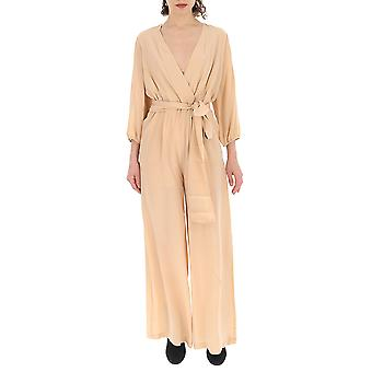 Semi-couture Nude Cotton Jumpsuit