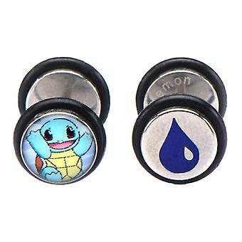 Pokémon Squirtle Fake Plug Stud Ohrringe