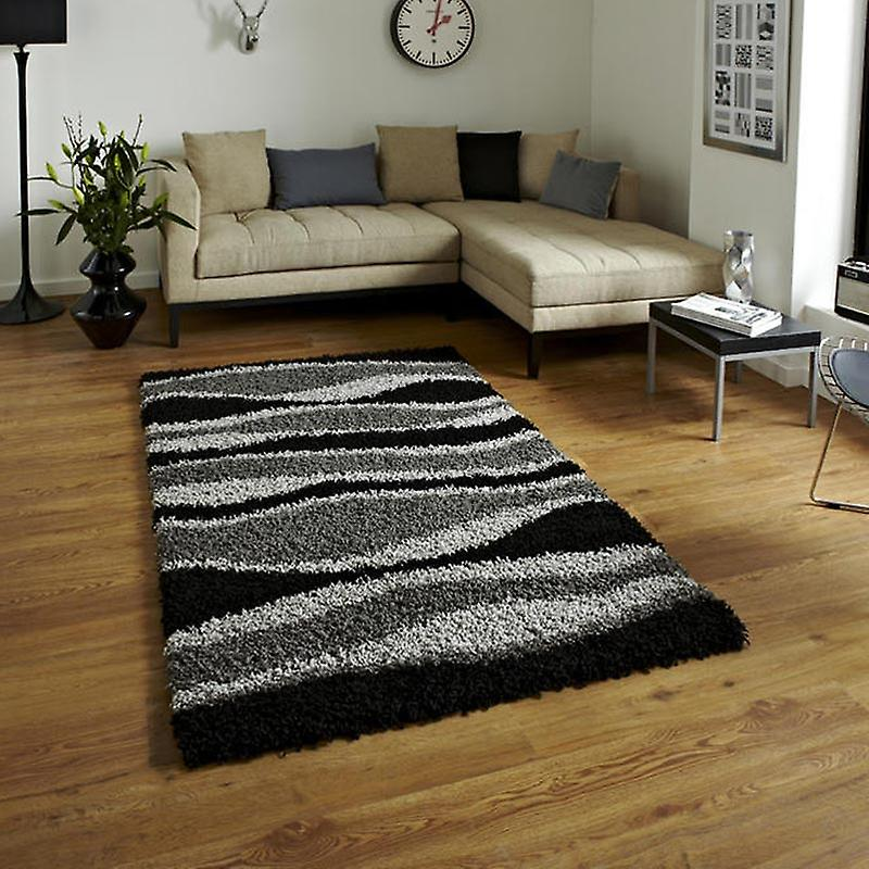 Rugs - Vista - J241 Black Grey