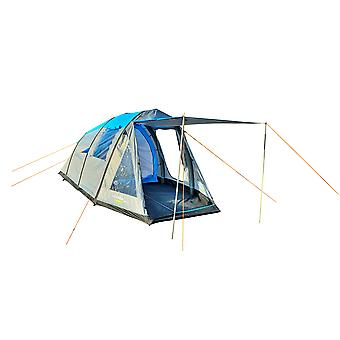 Yellowstone Wingfoot 4 Person Air Zelt blau und grau