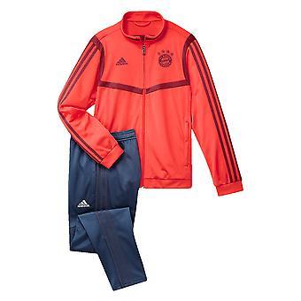 2019-2020 Bayern Munich Adidas PES Tracksuit (punainen)