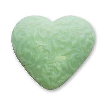 Florex BioLina Organic Sheep Milk Soap-Mountain Herbs-Heart with Ornament 80 g