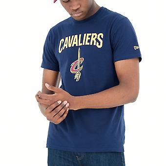 New Era Basic shirt-NBA Cleveland Cavaliers Navy