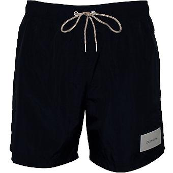Calvin Klein Premium Logo Patch Swim Shorts, Black