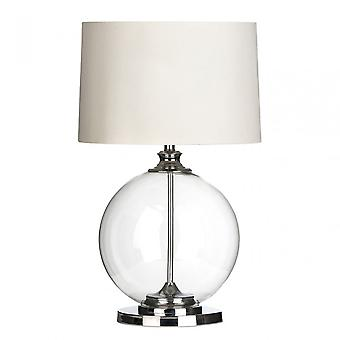 Premier Home Edna tafel lamp, glas, linnen, Clear
