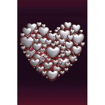 Poster - Studio B - 24x36 Heart to Heart Wall Art CJ1549B