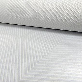 A.S. Creation AS Creation Chevron Stripe Pattern Wallpaper Modern Embossed Glitter Motif 306981