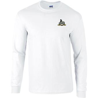 Royal Lincolnshire Regiment-gelicentieerd Britse leger geborduurd lange mouwen T-shirt