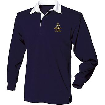 Royal Irish Regiment Veteran - Licensed British Army Embroidered Long Sleeve Rugby Shirt