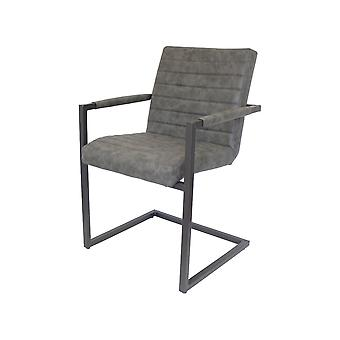 Dining chair chair cantilever 2 set Nando vintage grey 10796