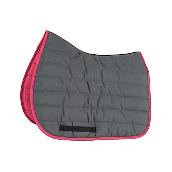 Shires Wessex High Wither Comfort Saddlecloth - Gris/rose