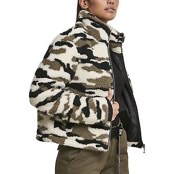 Urban Classics Ladies - SHERPA jacket wood camo