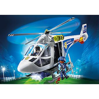 Playmobil 6921 City Action Police Helicopter With LED Searchlight Playset