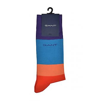 Gant D1. Colour Block Socks Blood Orange