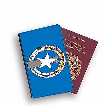 NORTHERN MARIANA ISLAND Flag Passport Holder Style Case Cover Protective Wallet Flags design