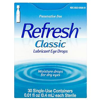 Refresh classic, lubricant eye drops, 30 ea x 0.4 ml