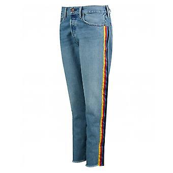 Polo Ralph Lauren Rainbow Striped Boyfriend Jeans