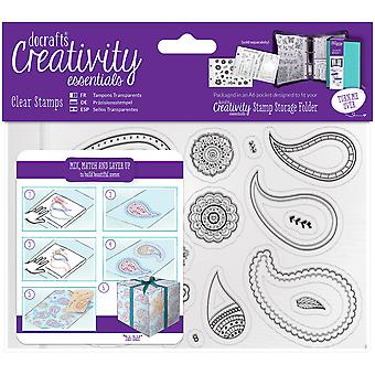 Creativity Essentials A6 Clear Stamps-Paisley CE907129
