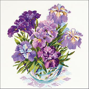 Iris In Vase gezählt Cross Stitch Kit-17,75